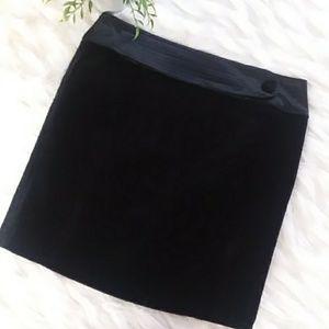Behnaz Sarafpour black velvet skirt size 13